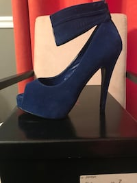 pair of blue suede platform stilettos Silver Spring, 20902