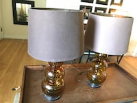 two brown glass table lamps Waterbury