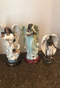 Set of 3 African American Angel statues $10 for all Manassas