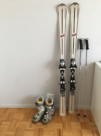 Downhill female ski set with boots size 7 Montréal, H3E 1E8