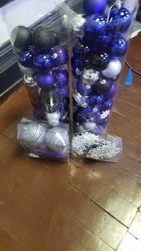 purple-and-silver bauble lot