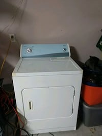 white front-load clothes gas dryer