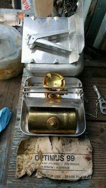 Optimus 99 camp stove never used scroll up