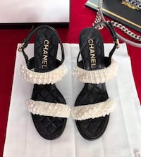 CHANEL HEELS 100% AUTHENTIC WITH PAPERS AND ORIGINAL BOX  Atlanta