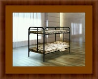 Twin bunkbed frame with mattress 27 km