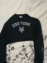 black Zoo York-printed crew-neck long-sleeved shirt Kelowna, V1X 7Y3