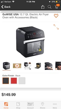 Go Wise 12.7QT Electric Air Fryer Oven with Accessories Gaithersburg, 20879