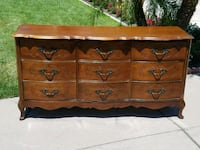 French provincial 9-drawer dresser Modesto, 95356