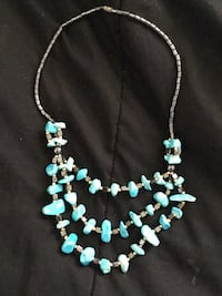 silver and blue beaded necklace Lancaster, 93536