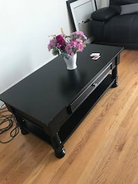 black wooden 2-drawer console table Chicago, 60631