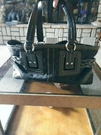 black and gray leather tote bag Wenatchee, 98801