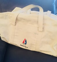 CANVUS & LEATHER LARGE TOTE BAG Original for the 1992 AMERICAS SAILING CUP with Shoulder Strap Quincy, 02169