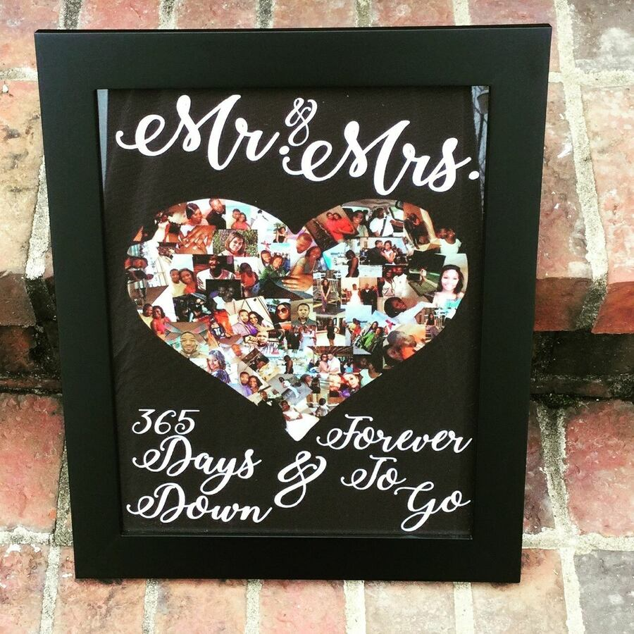 Mr. & Mrs. Photo Collage Frame