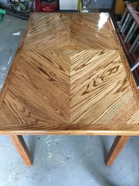 "Oak kitchen table 59""x35""x29"" high Haverford"