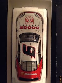 White and red Dodge dealers scale model Lake Forest, 92610