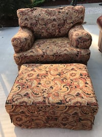 brown and white floral sofa chair Fayetteville, 28314
