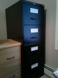 black wooden 4-drawer chest Calgary, T3G 5K7