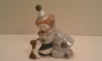 Lladro Figurine Small Clown & Dog # 5278 1985
