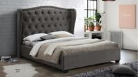 black upholstered bed with gray bedspread set York, 17404