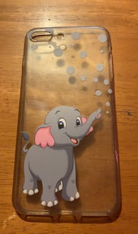 Wicked cute baby elephant rubber iphone 8 plus case.
