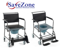 New- Medical Transport Toilet Commode Wheelchair with Locking Casters Mississauga