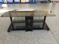 Black metal and glass tv stand