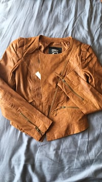 Brown Faux Leather Jacket (small/medium) Toronto, M3A 3R7