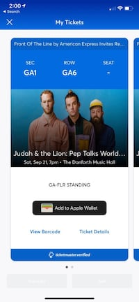 Concert tickets - Judah and the Lion  Toronto, M9C