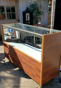 Glass Display Case Lighted on Wheels Warrensburg, 62573