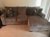 Like new large fluffy  sectional