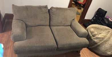 Wide Olive Green Couch