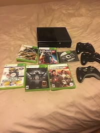Black xbox 360console with3  controllers and 6 games Herndon, 20170