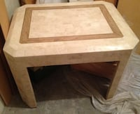Cream Solid Marble End/Coffee Table  TORONTO