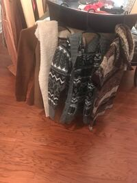 Clothing, sweaters, jackets, boots, heels, hat, scarf  332 mi
