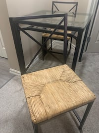 Ikea Glass Dining Table Set for 2  Calgary, T2R 0G1