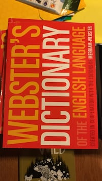 12 copies of Webster's dictionary (paperback )