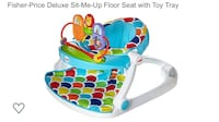 Fisher-Price Deluxe sit-me-up floor seat with toy tray Brampton, L6V