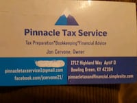 Tax prep...Yep, it's that time of year again! Bowling Green
