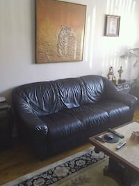 black leather 3-seat sofa Montreal, H3W