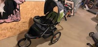 Baby trend black and green jogger stroller with aux cord Cheltenham, 20623