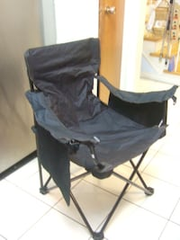 black foldable camping chair, 3279 Mississauga