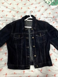 black denim button-up jacket Gatineau, J8T 8C7