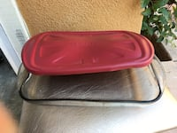 Great large, glass casserole dish with plastic lid. San Marcos, 92069