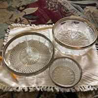 3 beautiful crystal dishes with silver rim Lakewood, 80226