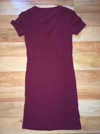 Women's maroon scoop-neck dress Essex, N0R