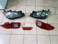 two black and red car headlights 779 km