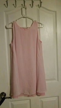 Pink sheer layered dress Winnipeg