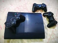 black Sony PS3 super slim console with controllers Delhi, 110037