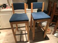 Wood and fabric high chairs Toronto, M4T 2E5