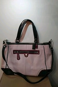 Pink coach bag with strap